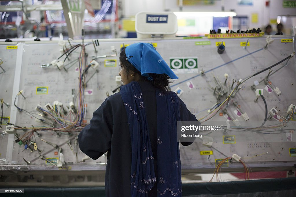 worker assembles a wire harness at the motherson sumi systems ltd picture id162887545?s=612x612 motherson sumi systems ltd stock photos and pictures getty images Wire Harness Assembly at couponss.co