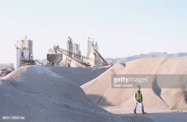 Worker at Cement Plant
