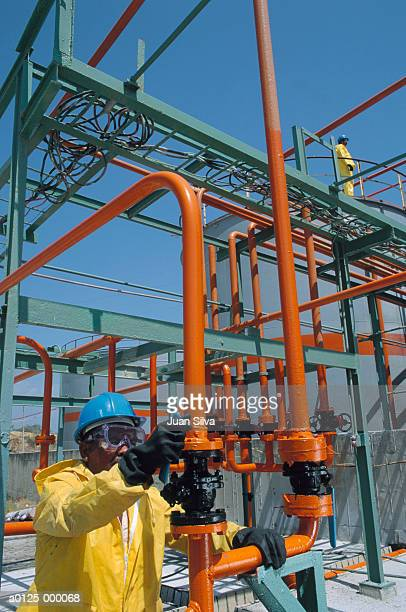 Worker at Chemical Plant
