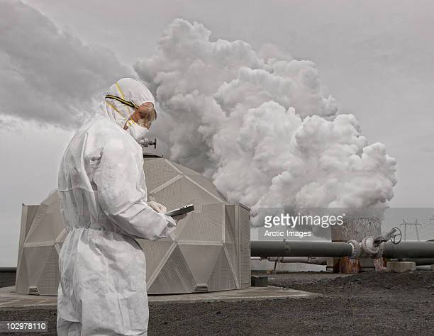 Worker at Geothermal Power Station