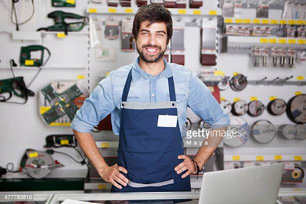 Worker at  hardware store
