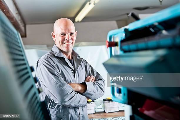 Travailleur à l'imprimerie