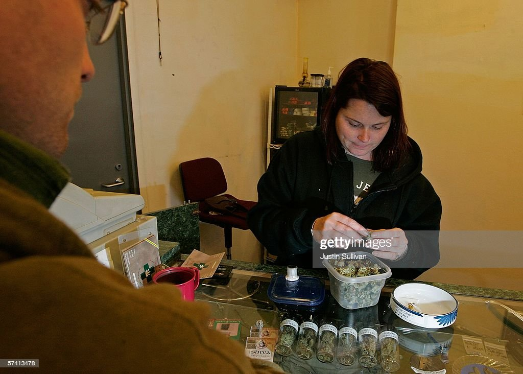 A worker at the Alternative Herbal Health Services cannabis dispensary packages marijuana buds April 24, 2006 in San Francisco, California. The Food and Drug Administration issued a statement last week rejecting the use of medical marijuana declaring that there is no scientific evidence supporting use of the drug for medical treatment.