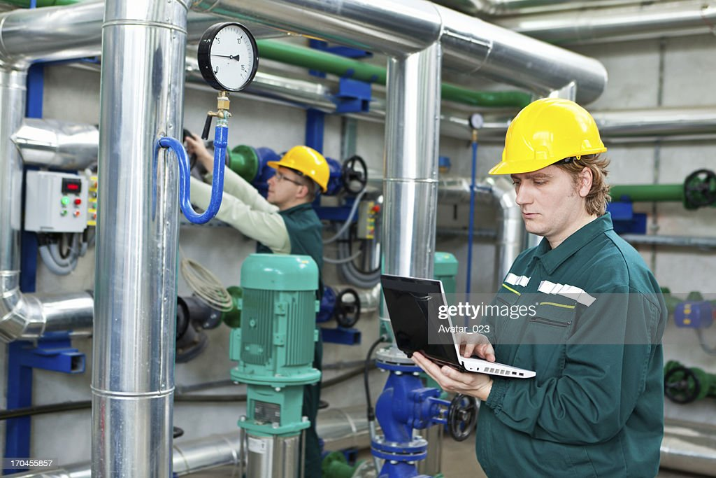 Worker control devices in a Heating Plant