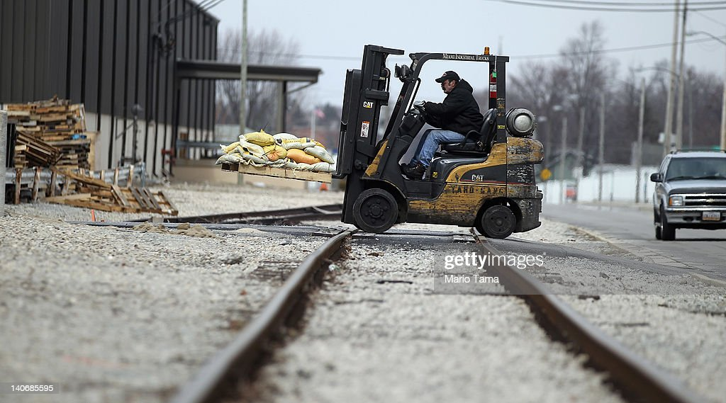 A worker drives a forklift on March 4, 2012 in Findlay, Ohio. A census report released in 2011 showed that 15.3 percent of Ohioans live in poverty, the highest rate in the state in more than 30 years. Economic conditions are a major concern among voters in the state. The Republican Party continues the process of determining who will be their general election candidate against President Barack Obama in the fall with the upcoming Super Tuesday vote.
