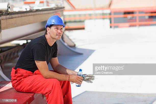 Worker having a rest