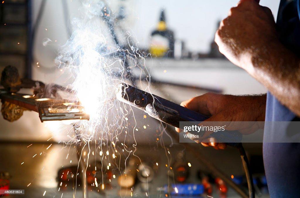 作業員の行動なし手袋を保護 : ストックフォト
