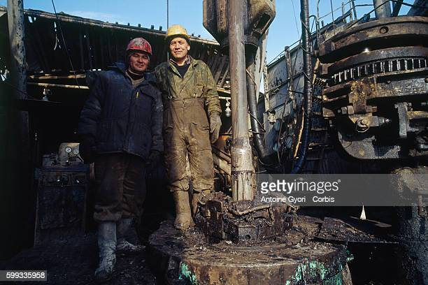 Worker in one of the oil fields of Jangaozen With more than 63000 tons of oil extracted per year in Kazakhstan the country became the second leader...
