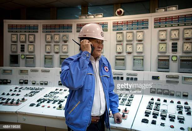 Worker of the thermal power station on August 21 2010 in Darkhan MongoliaThe power plant was built in the 60s by Russian companies and will be...