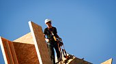 Worker on roof