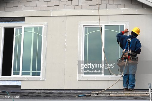 Worker on the roof