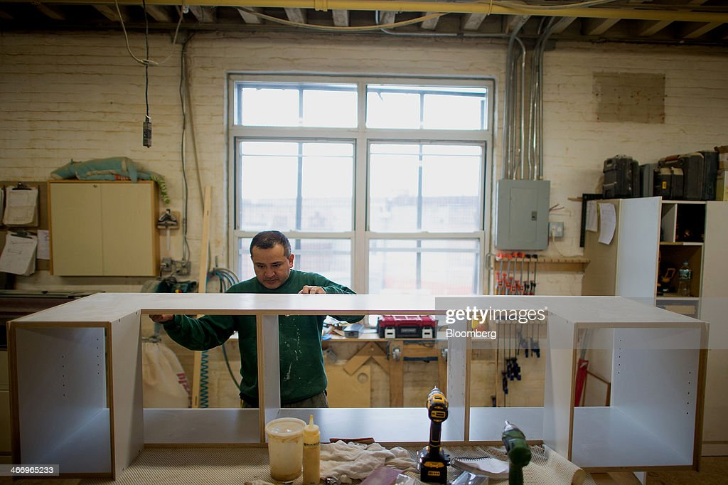 Nice Worker Pedro Rosas Builds A Piece Of Furniture At Casa Kidsu0027 Red Hook  Facility In