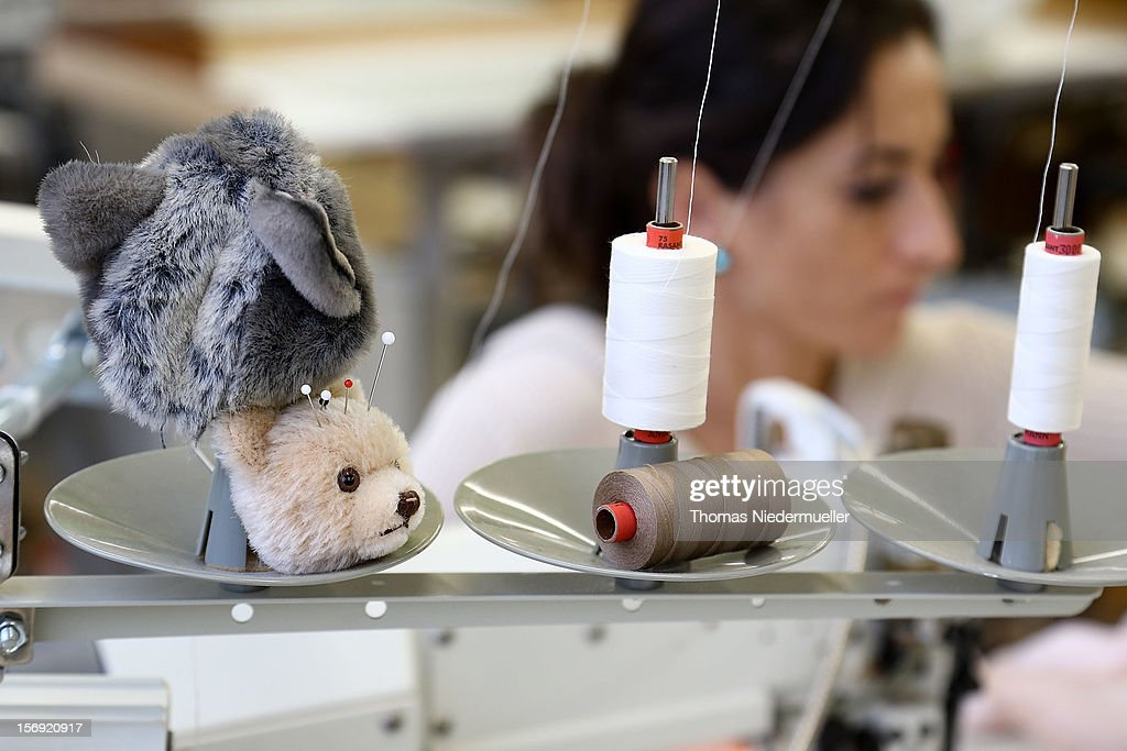 A worker sews at the Steiff stuffed toy factory on November 23, 2012 in Giengen an der Brenz, Germany. Founded by seamstress Margarethe Steiff in 1880, Steiff has been making stuffed teddy bears since the early 20th century ever since her nephew Richard Steiff exhibited the first commercially produced teddy bear in Europe in 1903. Teddy bears are among the most popular children's toys and the company is hoping for a strong Christmas season.
