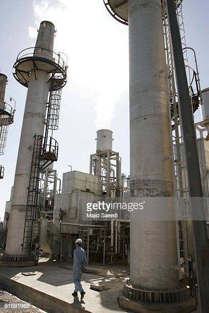 A worker walks outside Iran's controversial heavy water production facility October 27 2004 at Arak south of the Iranian capital Tehran Iran said...