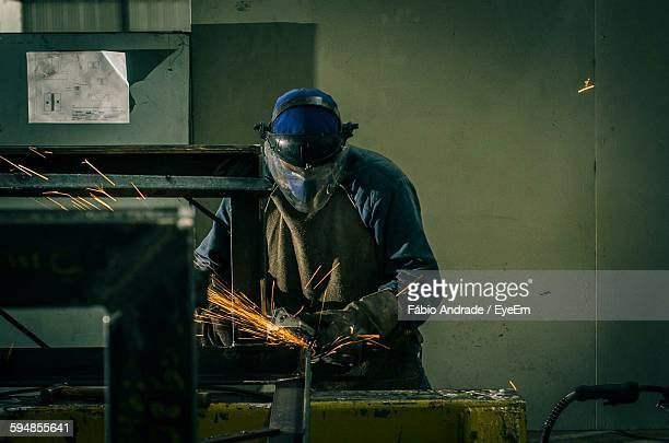 Worker Working In Industry