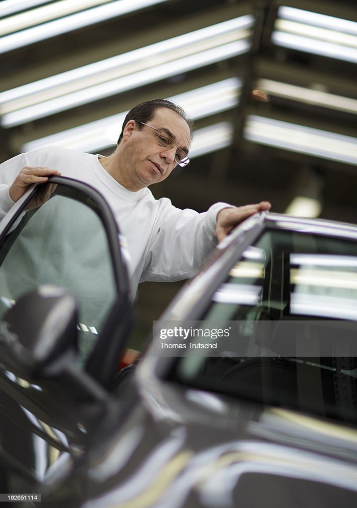 A worker works in the final control on the assembly line producing new Volkswagen Golf 7 cars at the Volkswagen factory on February 25, 2013 in Wolfsburg, Germany. Volkswagen Aktiengesellschaft announced its key financial data for fiscal year 2012 with sales revenue of EUR 192.7 billion (prior year: EUR 159.3 billion), the Group's operating profit of EUR 11.5 billion (EUR 11.3 billion) exceeded the prior-year record level.