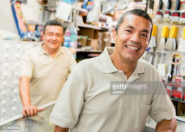 Workers at a hardware store