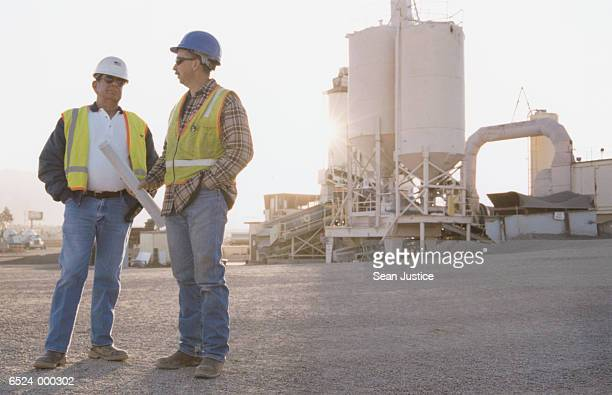 Workers at Asphalt Plant