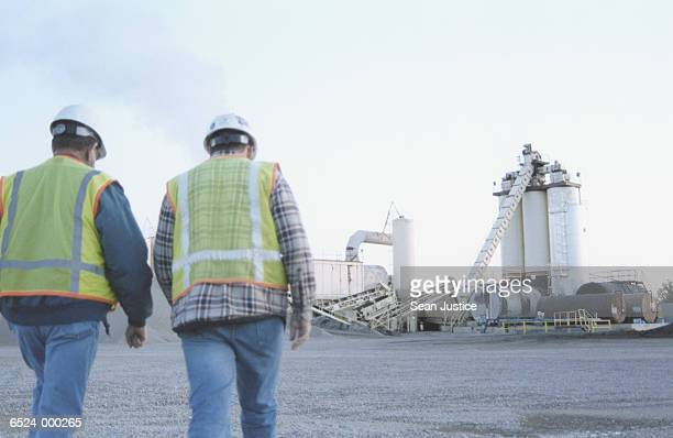 Workers at Cement Plant