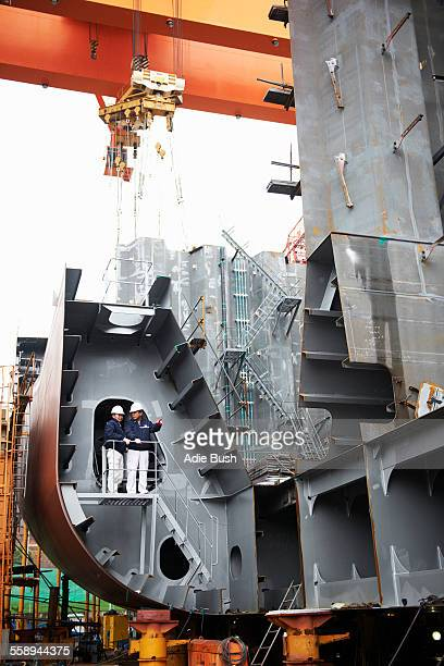 Workers at shipyard, GoSeong-gun, South Korea