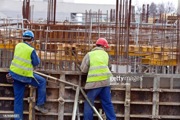 Lavoratori presso il Cantiere di costruzione