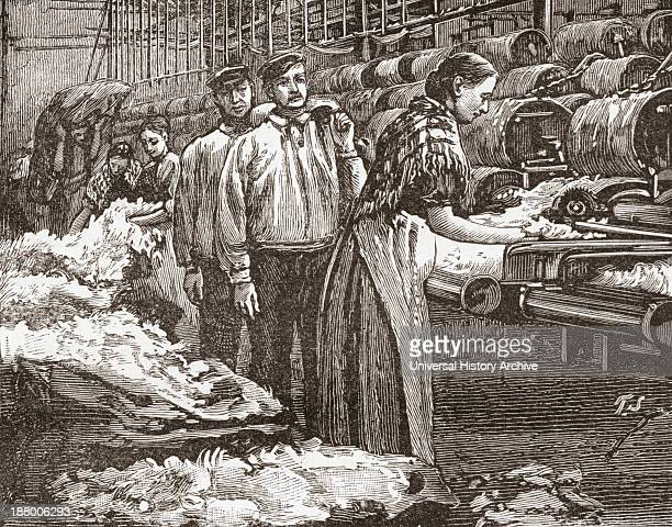 Workers At The Saltaire Woollen Mill Bradford North Yorkshire England In The Late 19Th Century From Our Own Country Published 1898