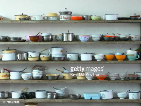 Worker's bowls in factory : Stock Photo