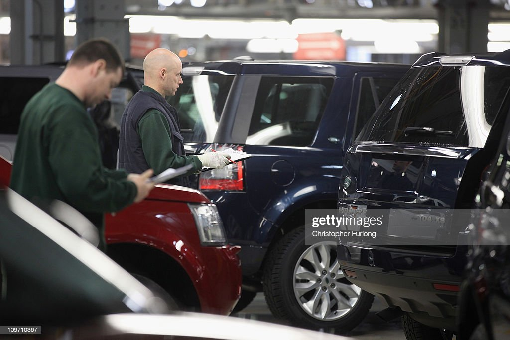 Workers check Land Rover Freelenders in quality control as Business Secretary Vince Cable tours the Jaguar Land Rover Halewood assembly plant on March 2, 2011 in Halewood, England. During his tour the company announced over £2 billion worth of supply contracts to more than 40 companies in the UK for its new Evoque model creating 1,500 new jobs. The Range Rover Evoque is due to go on sale this Summer.
