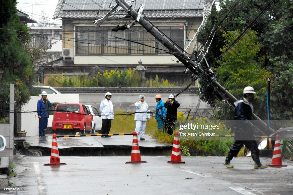 Powerful Typhoon Lan Hits Japan
