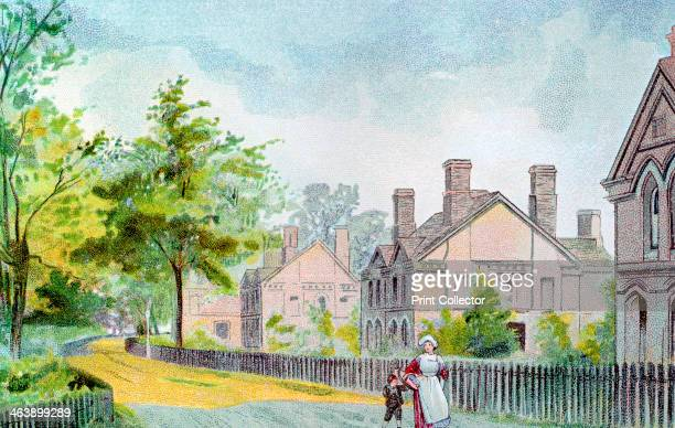 Workers' cottages at Bournville Birmingham 1892 Bournville was an ideal village built near Birmingham for their employees by the chocolate...