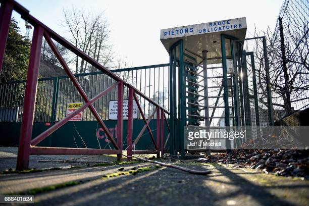 A workers entrance to the ArcelorMittal steel mill on February 14 2017 in HayangeFrance The people of the French Rust Belt are expected to play a key...