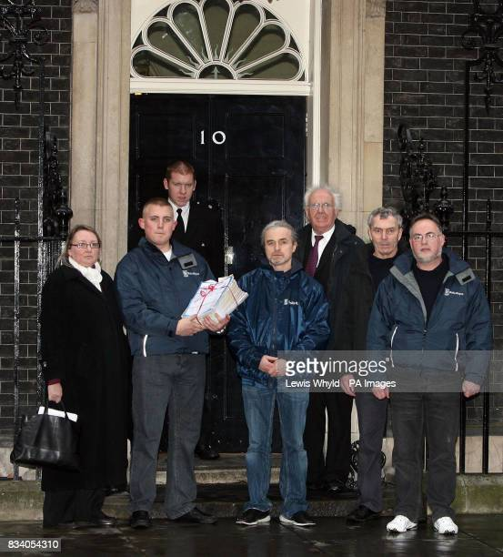Workers from a RollsRoyce factory threatened with closure hand in a petition to No 10
