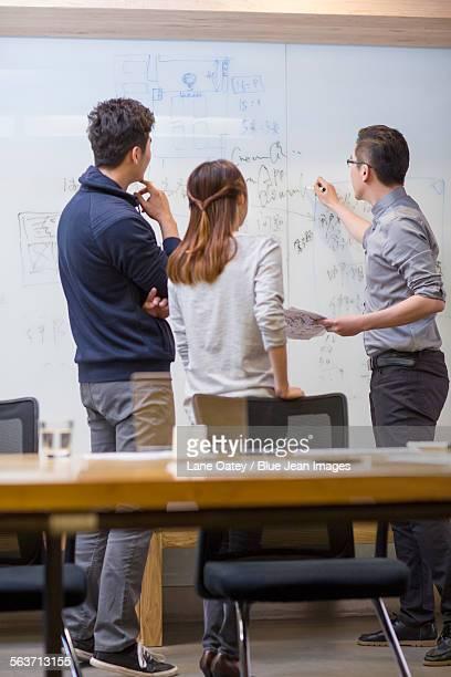 IT workers having a meeting in board room