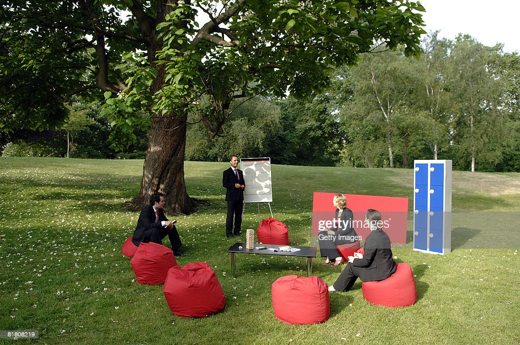 Wonderful Workers Hold A Meeting At The Visit London Outdoor Office In St Jamesu0027 Park  On