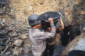 Workers in Vietnamese coal mine