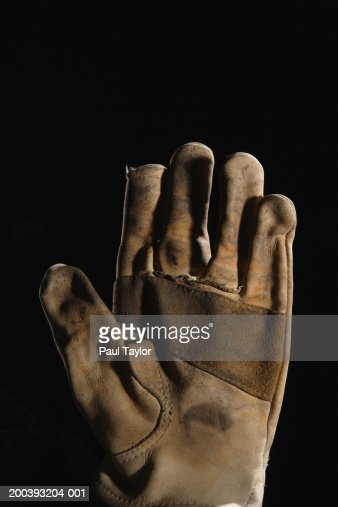 Worker's leather glove