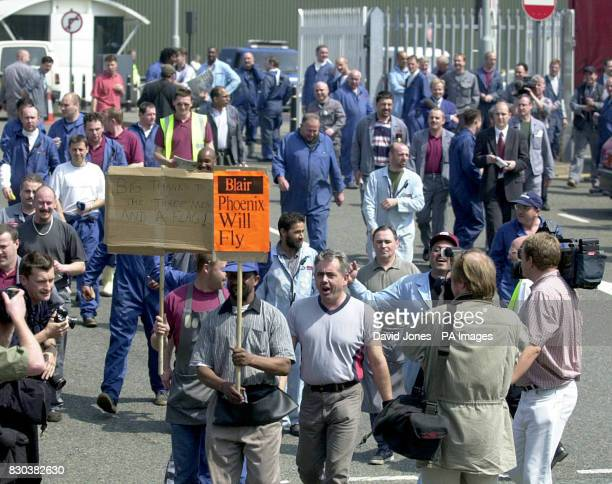 Workers leave the Rover plant at lunchtime with a sense of celebration after a dramatic rescue deal which has saved the firm from closure At least...