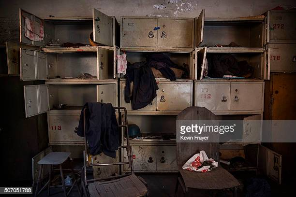 Worker's lockers in the abandoned Qingquan Steel plant which closed in 2014 and became one of several socalled 'zombie factories' on January 26 2016...