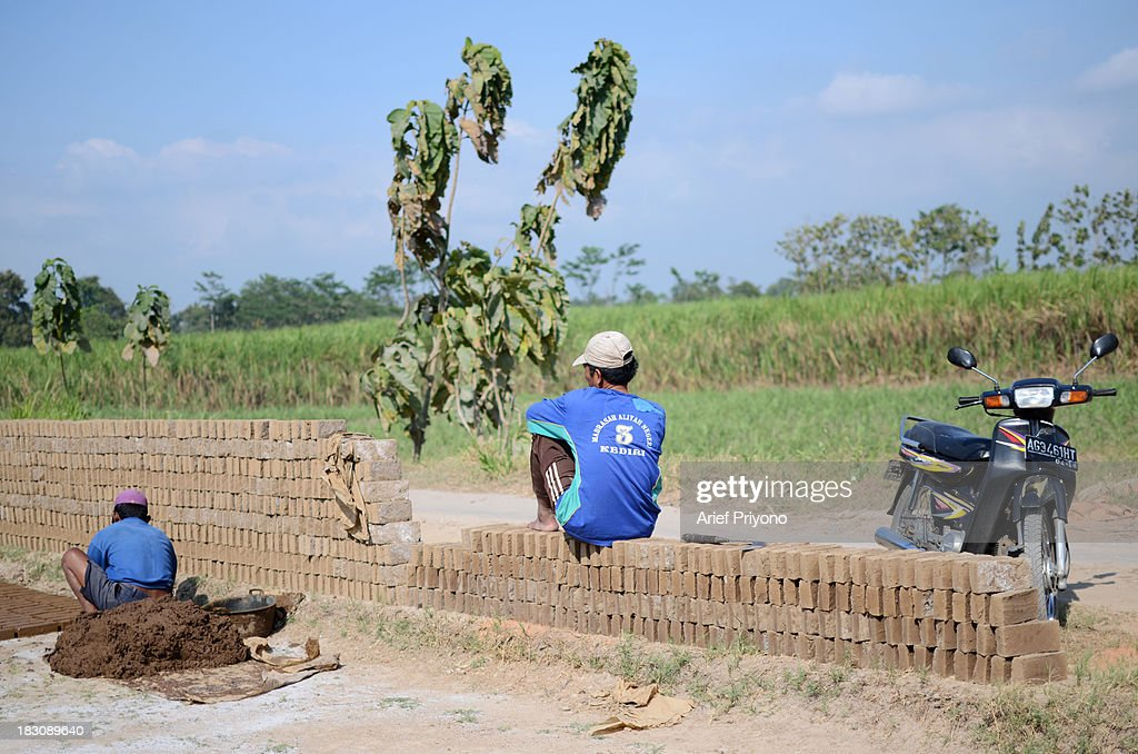 Workers making bricks in a sugarcane field in Silir village. Many farmers in Indonesia have had to convert agricultural land because it is no longer profitable. Consequently Indonesian agricultural production has declined. Although Indonesia is an agricultural country, it still has to rely heavily on imported food staples such as rice, sugar, soybeans and corn. The Central Statistics Agency (BPS) announced that the number of farming households in Indonesia has decreased by 5.04 million families in the past 10 years. The 2003 Census of Agriculture claimed 31.17 million farm households. But in 2013 the number had fallen to 26.13 million. Indonesia has been listed as the world's largest sugar exporter. In 1930, when Indonesia was still called the Dutch East Indies, some 179 sugar factories produced over 3 million tons of sugar each year. Currently there are only 62 sugar factory in Indonesia..