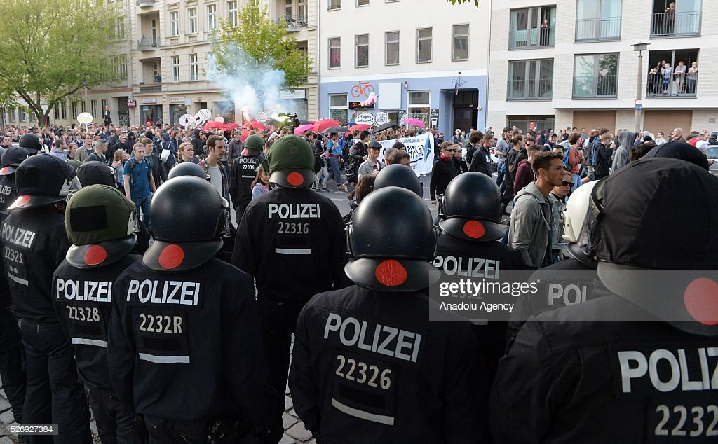 Workers, organized by labor unions and other labor organization take part in a rally to mark May Day, International Workers' Day in Berlin, Germany on May 01, 2016. Every year May Day is observed and commemorated as an official holiday all around Germany.