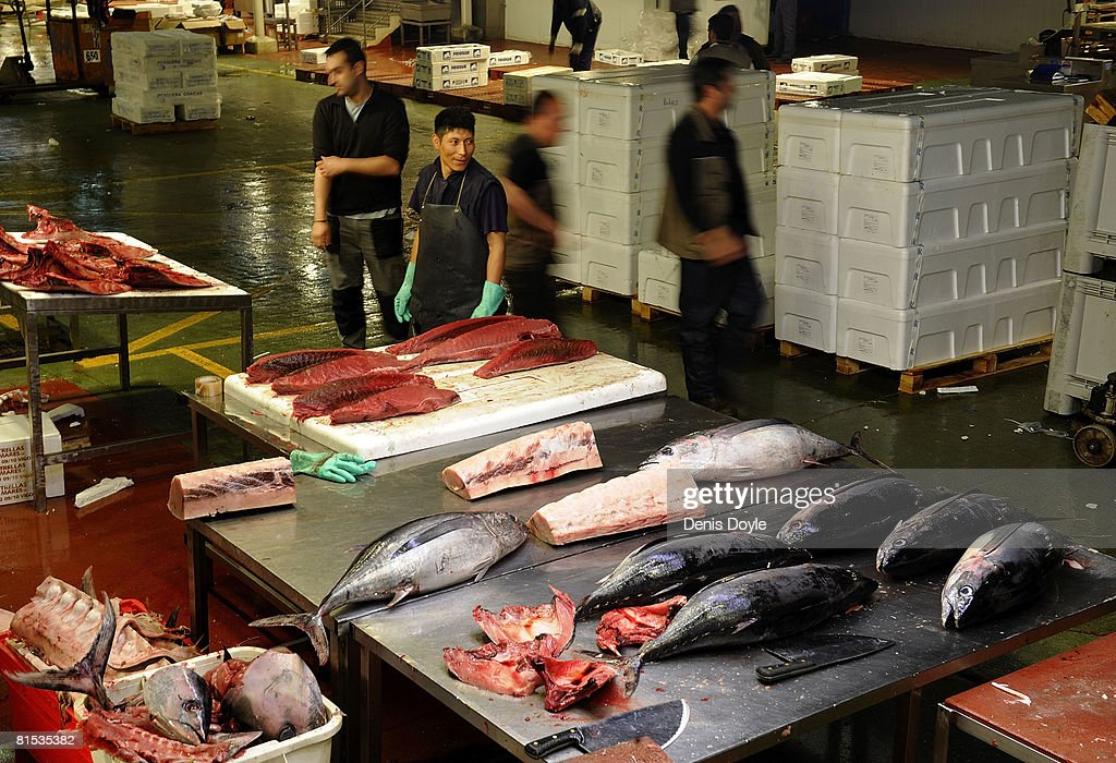 Transport strike continues in spain getty images for Wholesale fish market near me