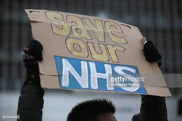 NHS workers strike outside the Royal Liverpool University Hospital at the start of a 48hour walk out by junior doctors in their continued row with...