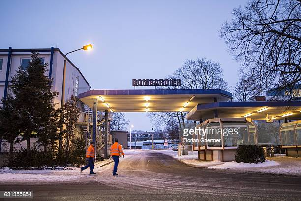 Workers walk to the plant of Bombardier on January 09 2017 in Goerlitz Germany According to media reports Canadian train manufacturer Bombardier...