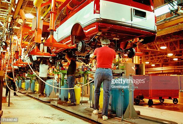 Workers working in a plant, General Motors Plant, Baltimore, Maryland, USA