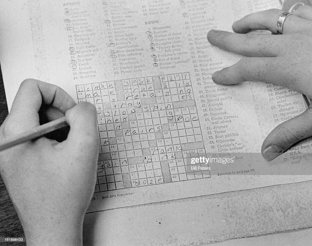 NOV 1973, NOV 23 1973; Working A Crossword Puzzle Improves Reading Skills; Students can get credit for attending a movie if it's learning *****;