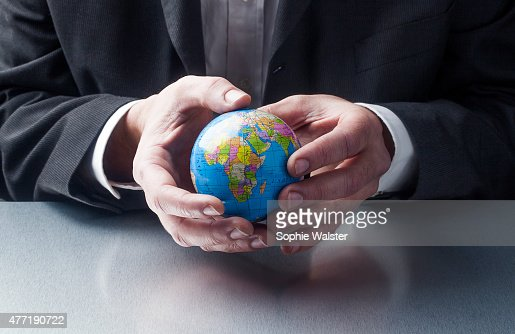 working and caring for the earth : Stock Photo