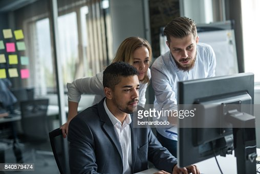 Working as a team : Stock Photo