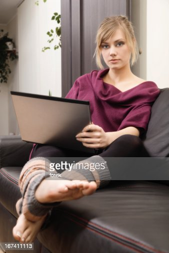 Working at home : Stockfoto