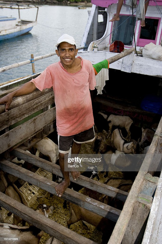 Working at the harbor on Sumba, Indonesia.