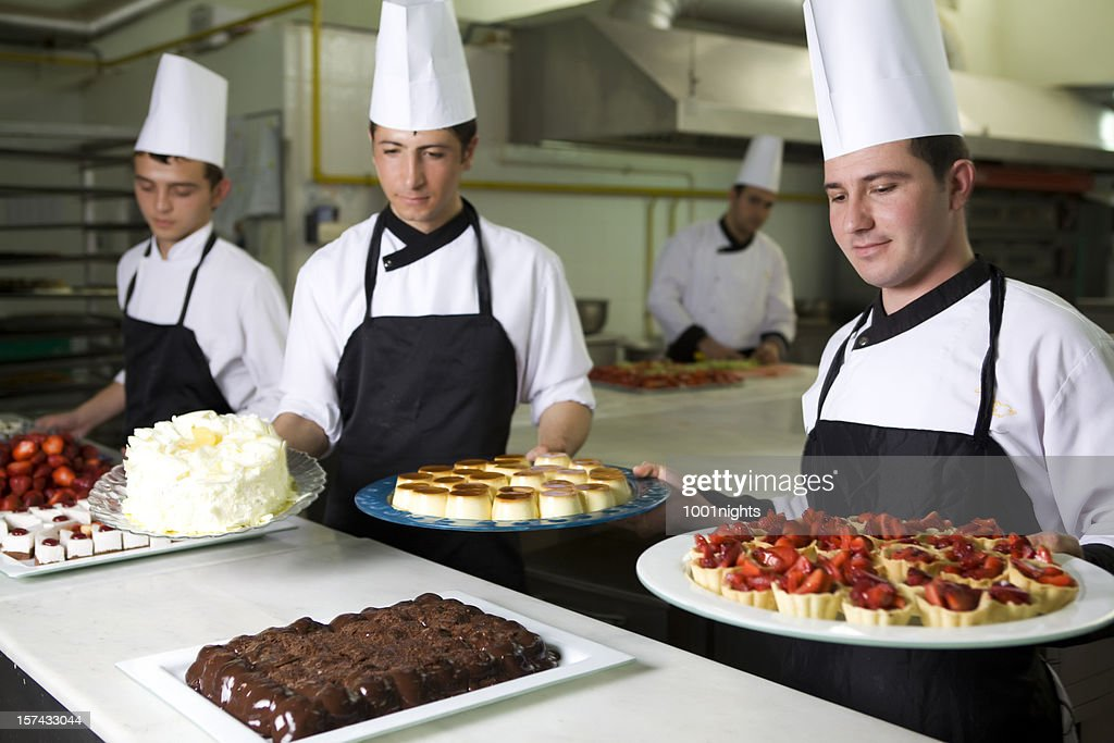 Working chefs : Stock Photo